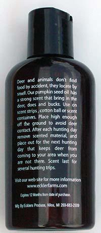 Bring It - Deer Attractant Back of Bottle